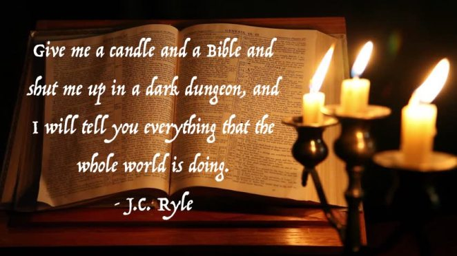 candle and bible