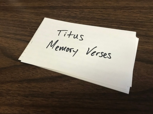 Titus Memory Verses